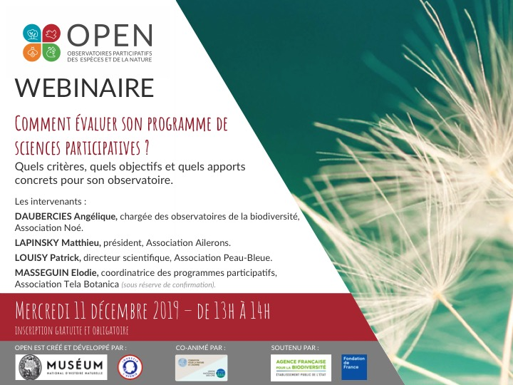 Webinaire OPEN – Comment évaluer son programme de sciences participatives ?